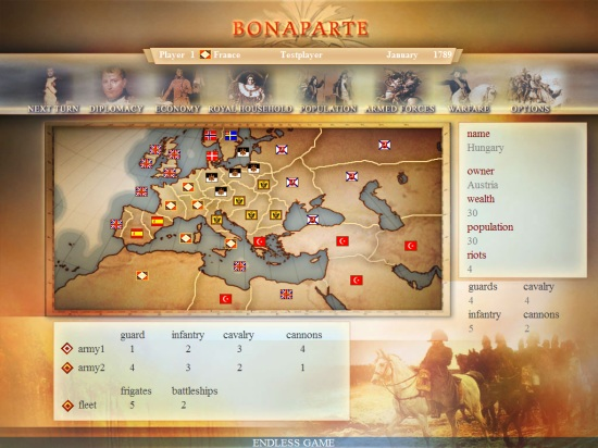 Bonaparte, Shareware, Napoleon, Revolution, download, Game, Simulation, Freeware